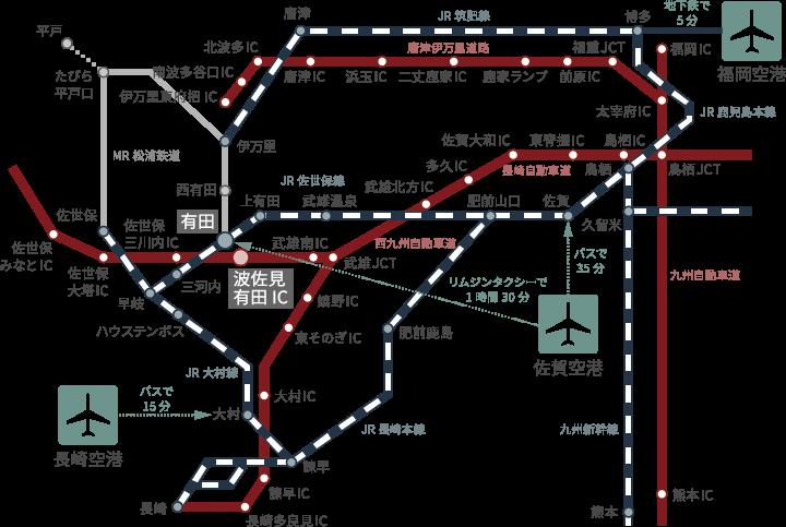 会場へのアクセス地図1