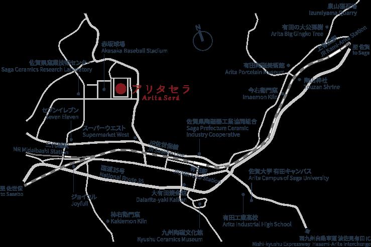 会場へのアクセス地図2