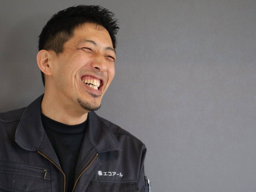 笑顔の松尾社長