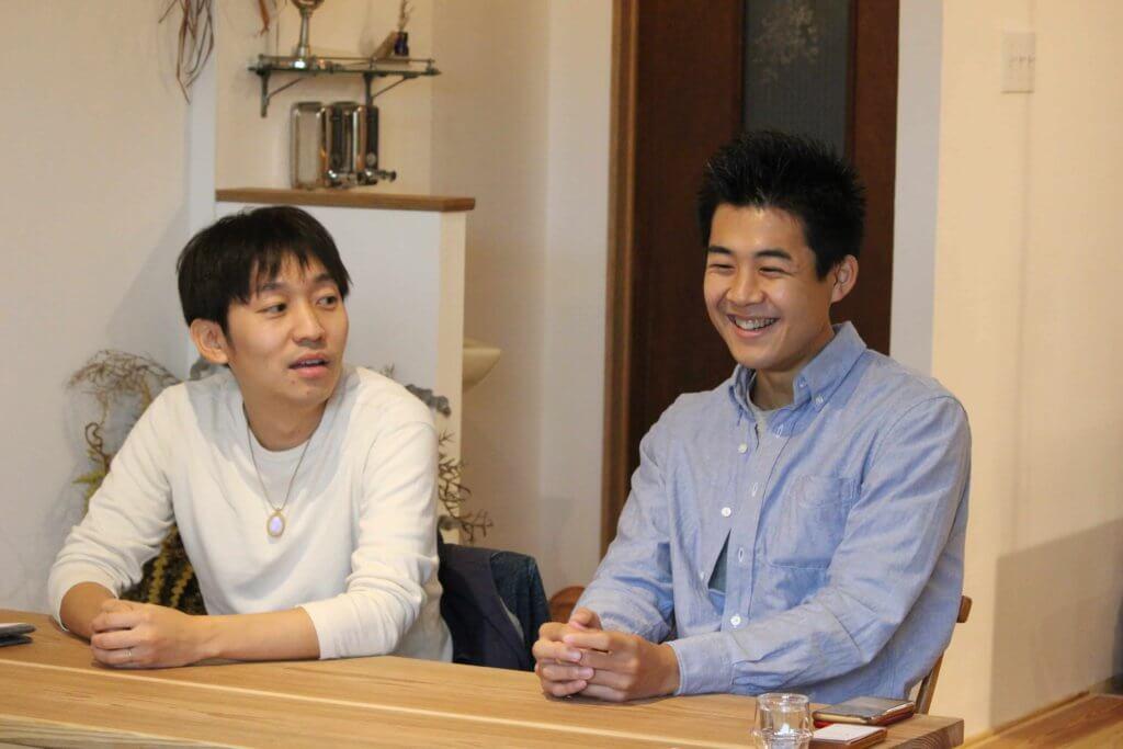 株式会社ふたつぶの福田社長と松井の写真